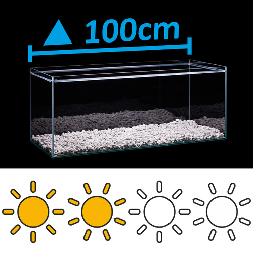 LED Set for 100cm triangle-aquarium - light requirements: standard