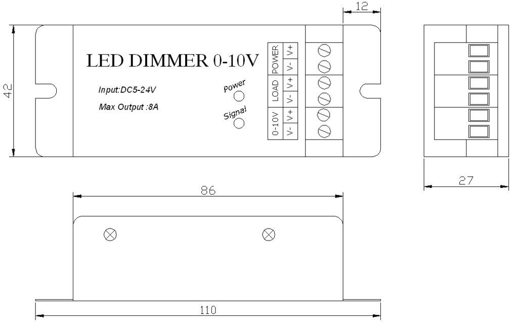 led pwm dimmer 1 10v. Black Bedroom Furniture Sets. Home Design Ideas